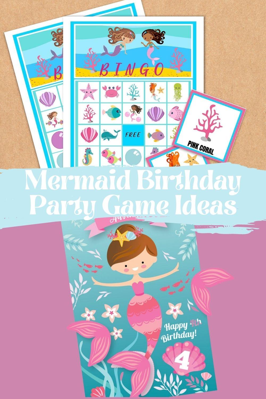Printable Mermaid Birthday Party Games