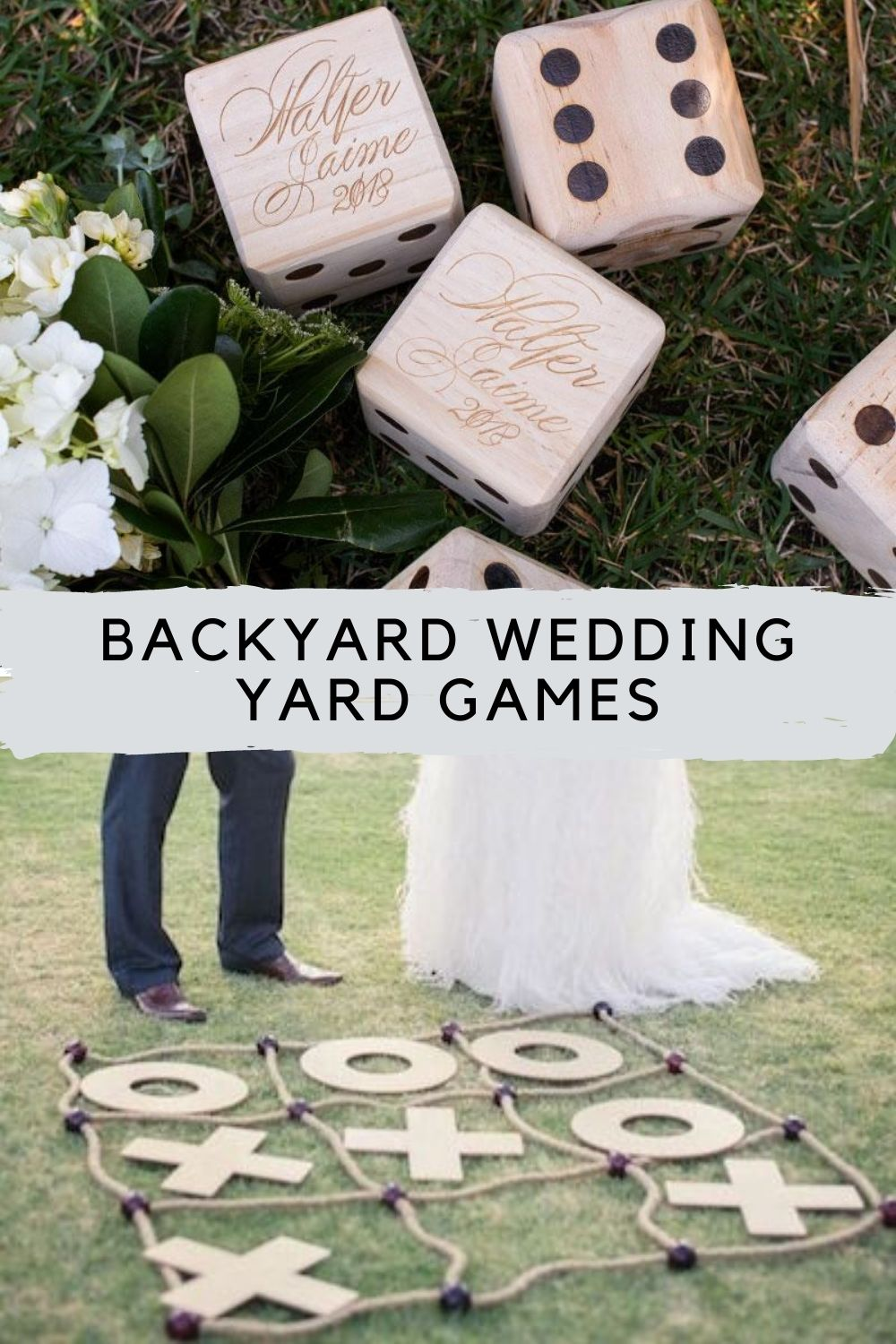 Backyard Games For Weddings With A Lawn