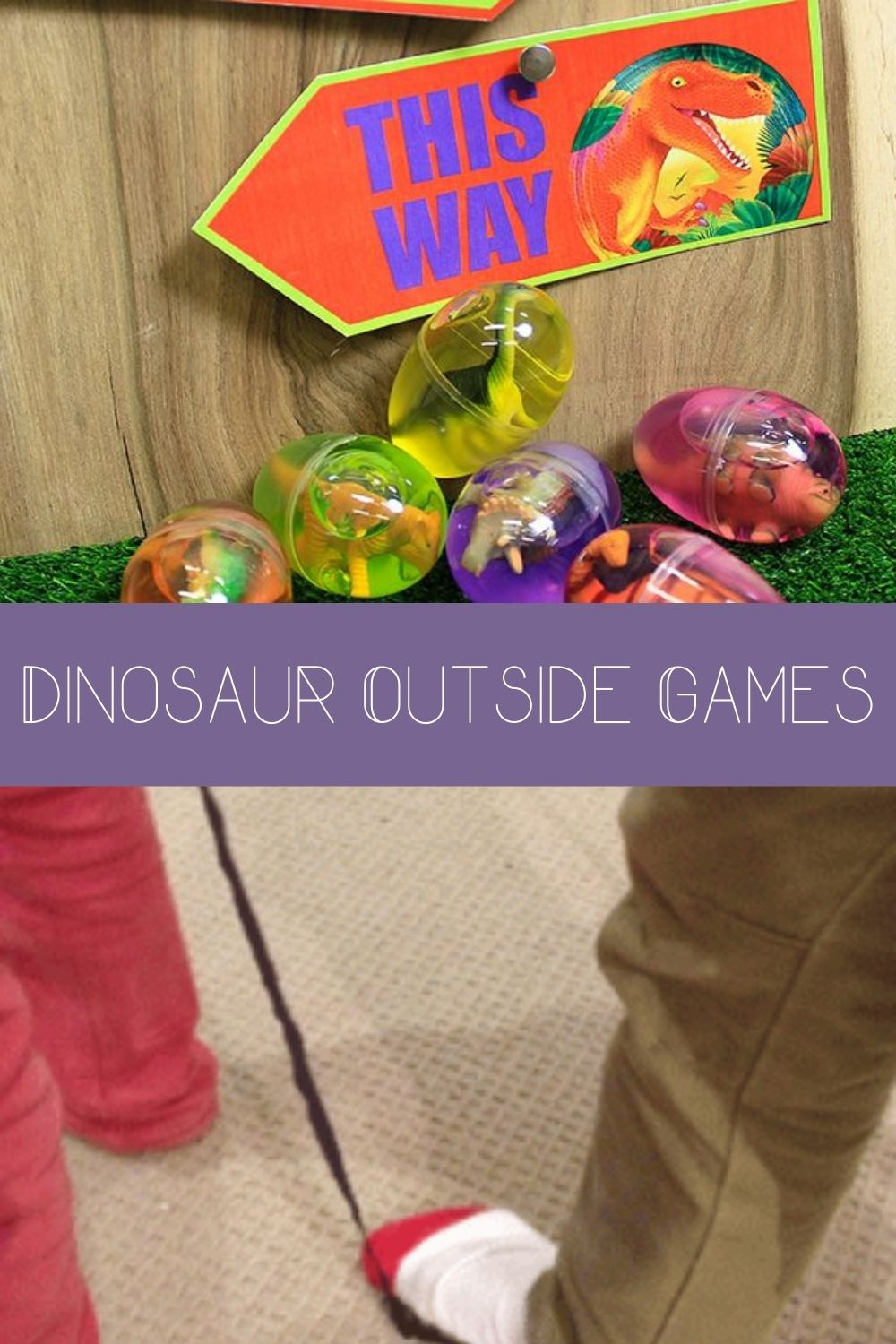 Dino Party Games Outside