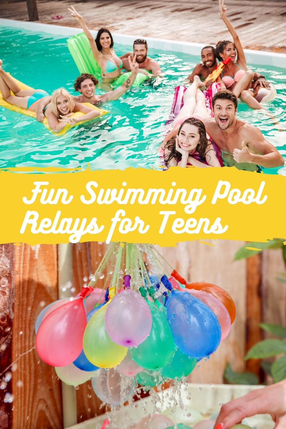 Swimming Relay Game Ideas For Teens