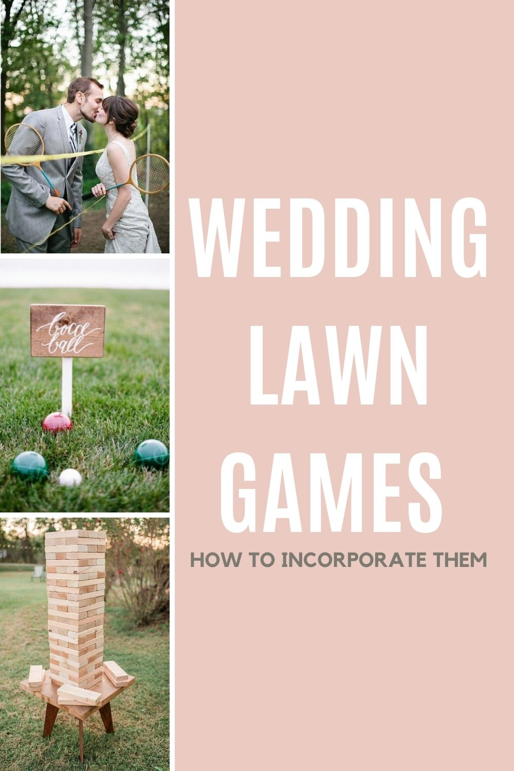 Wedding Lawn Games How To Incorporate them