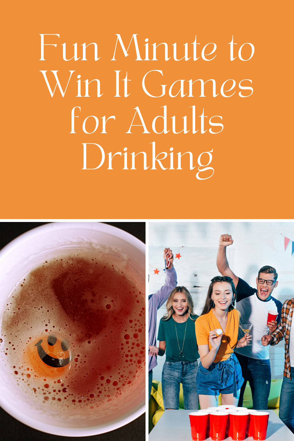 Minute to Win It Games for Adults Drinking