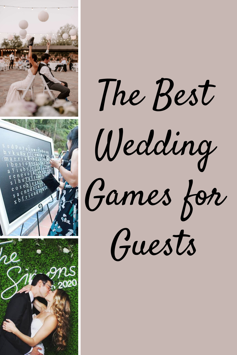 Best Wedding Games for Guests