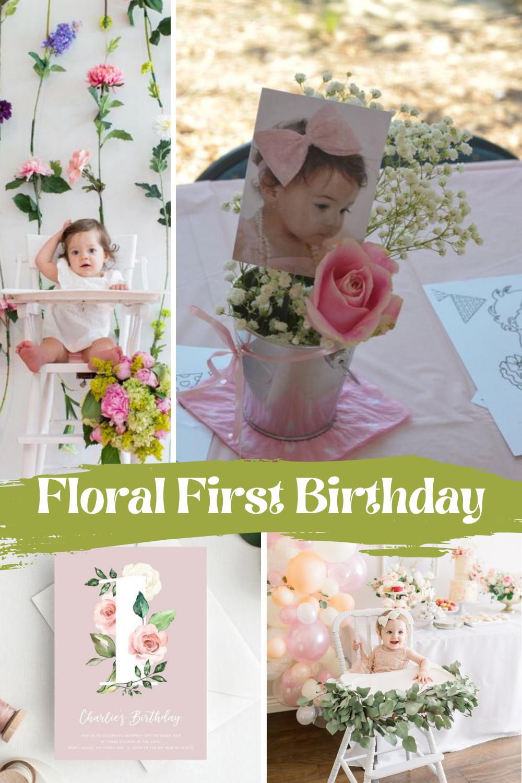 Floral First Birthday Idea