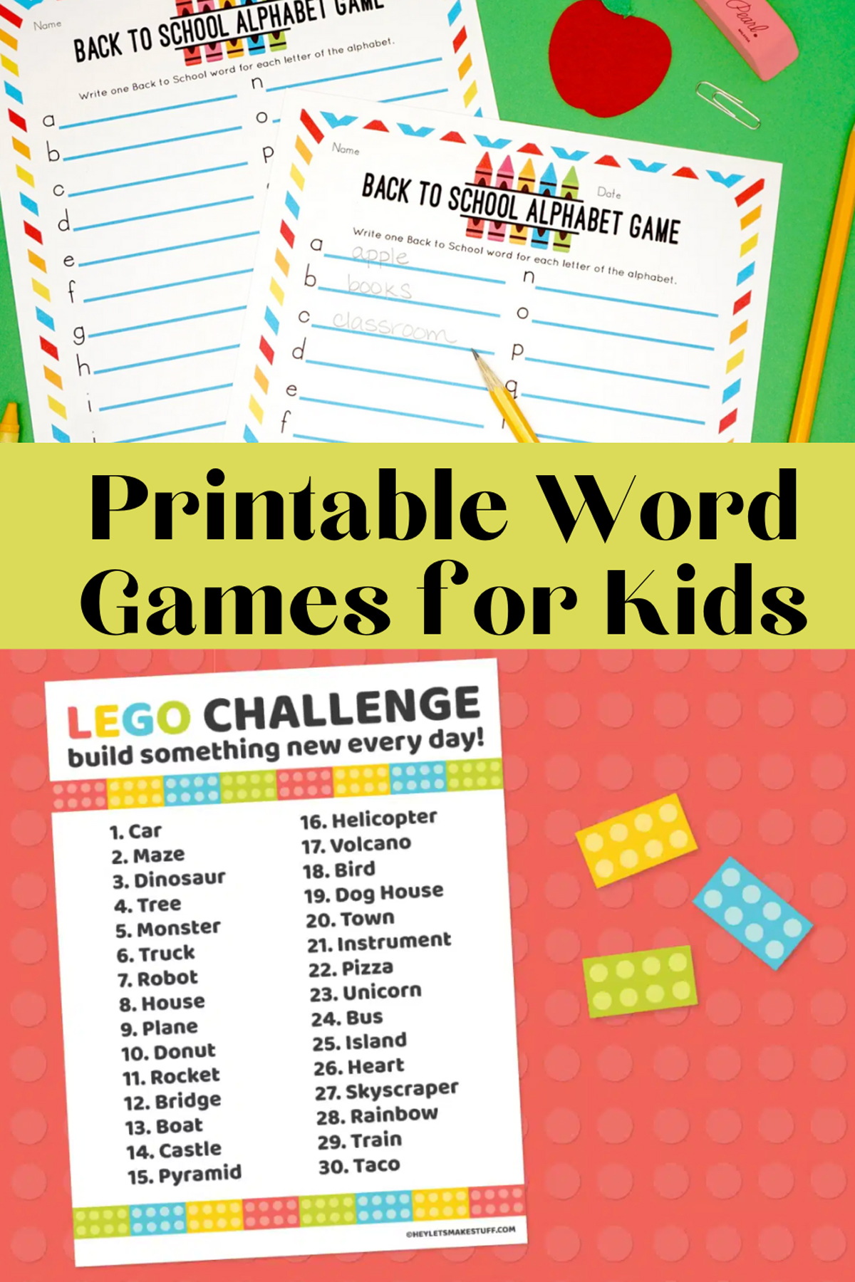 Word Game Ideas To Print