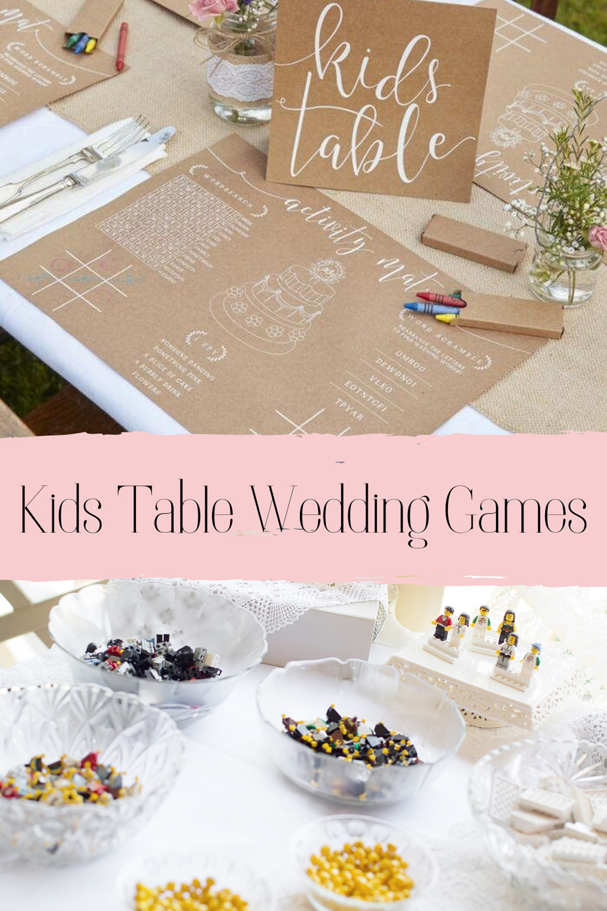 Kids Table Wedding Games