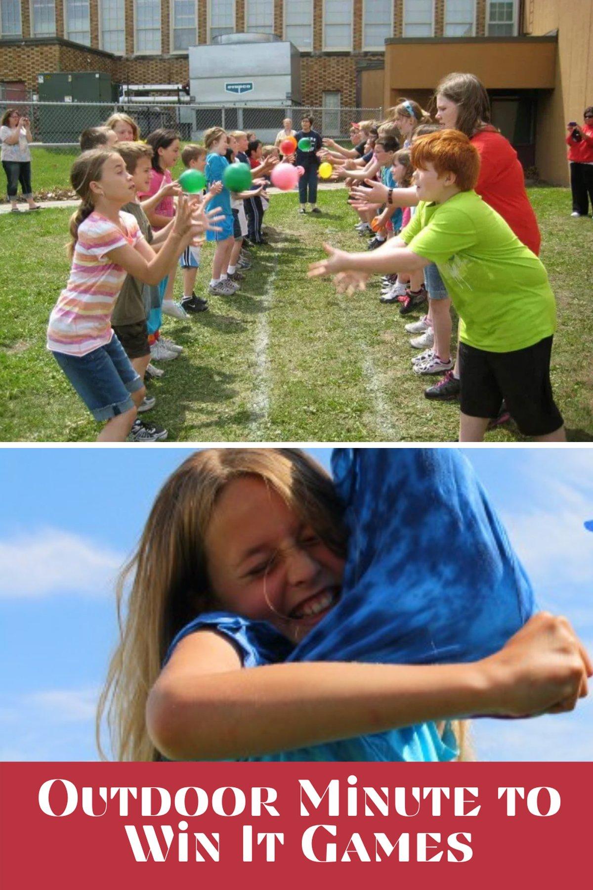 Outdoor Minute to Win It Games School Field Day