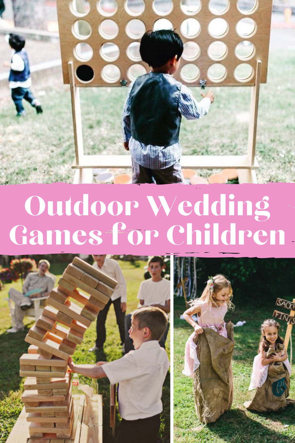 Outdoor Wedding Games for Kids