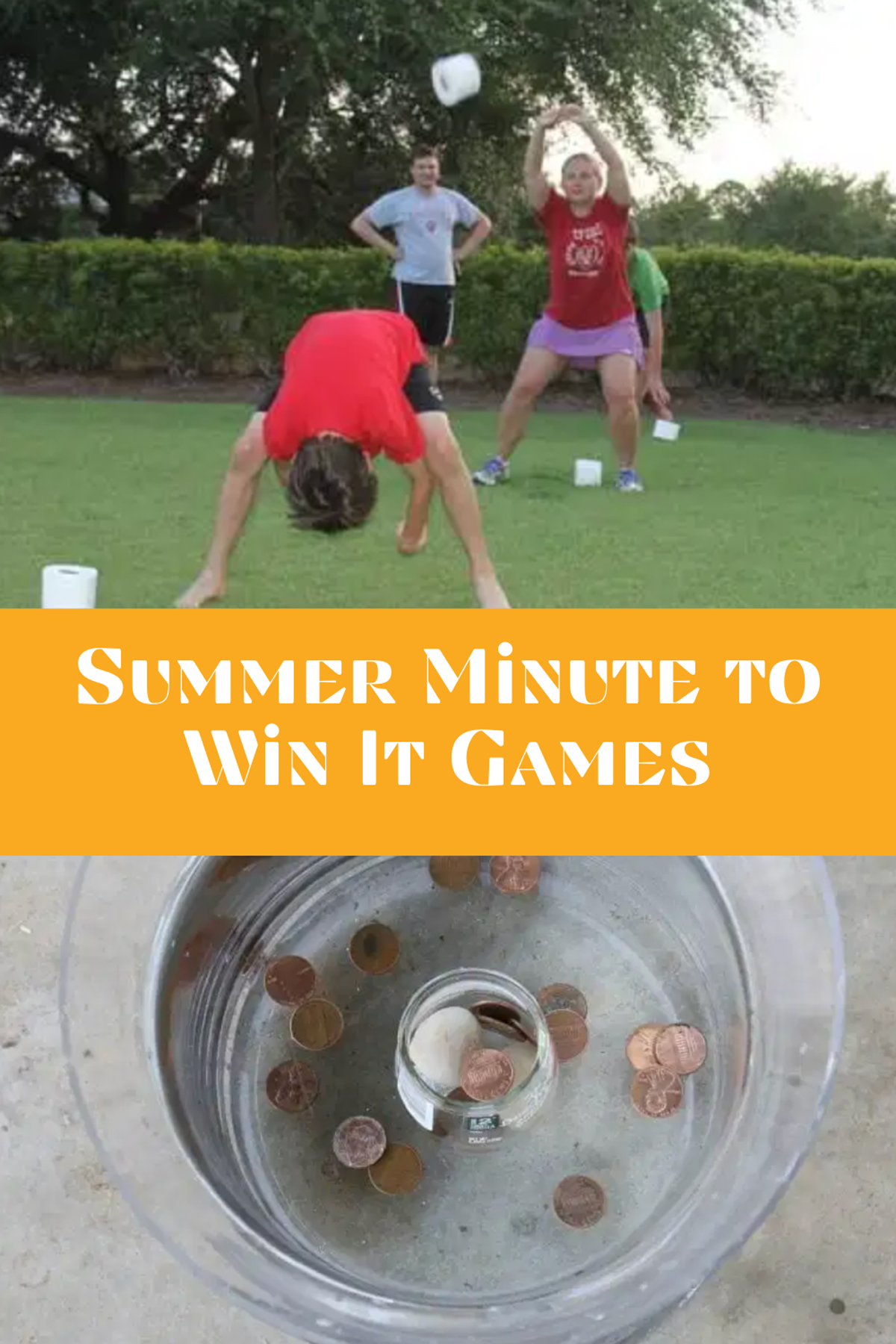 Summer Minute to Win It Games Backyard