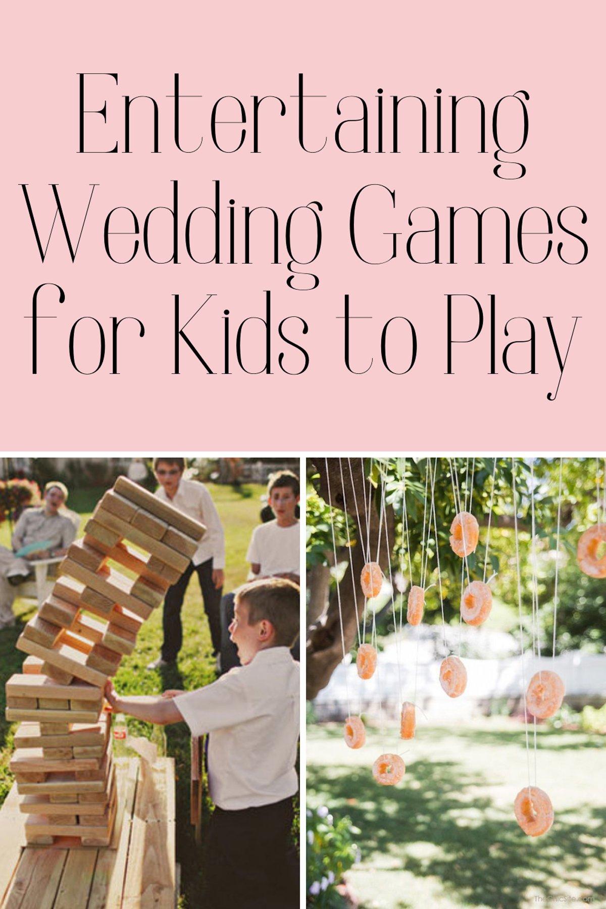 Fun Games for Kids Weddings
