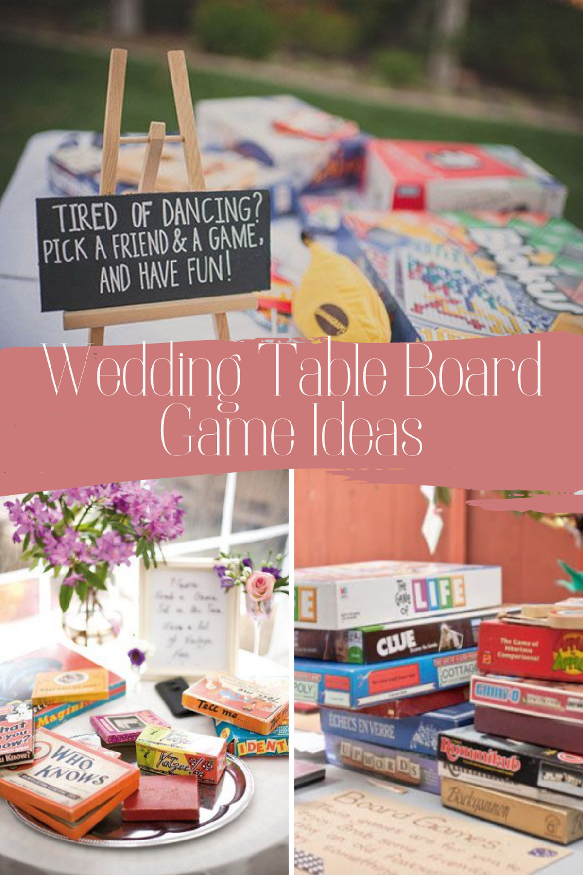 Wedding Table Board Game Ideas