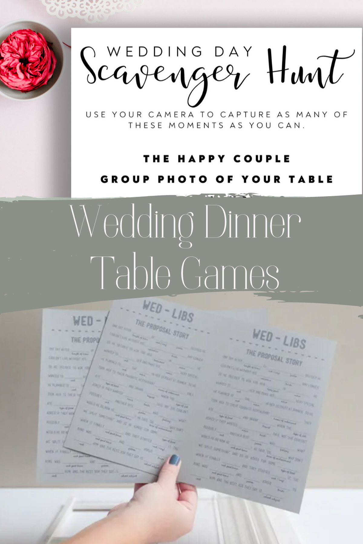 Wedding Table Games for Guests